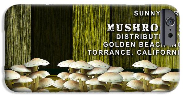 Mushroom iPhone Cases - Mushroom Farm iPhone Case by Marvin Blaine