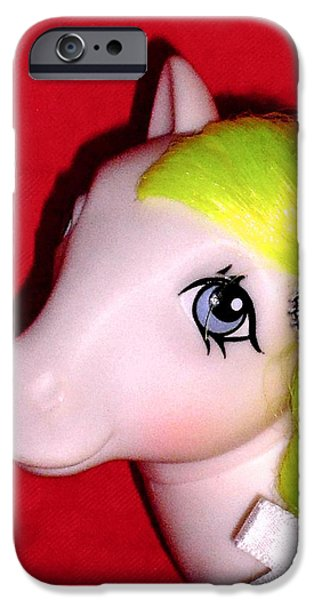 Horse Pyrography iPhone Cases - My little pony  iPhone Case by Donatella Muggianu
