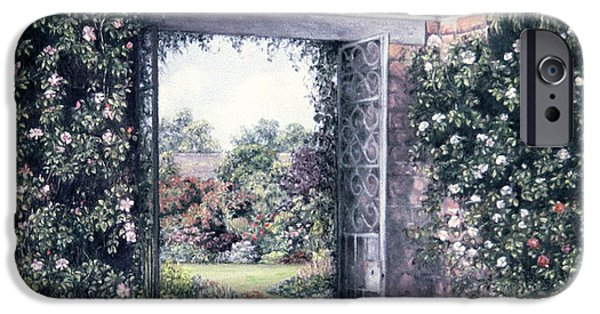 History Pastels iPhone Cases - My Secret Garden iPhone Case by Rosemary Colyer