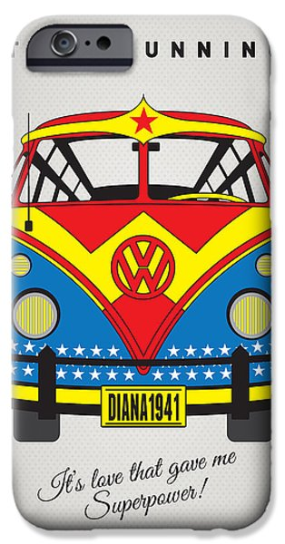 Power iPhone Cases - MY SUPERHERO-VW-T1-wonder woman iPhone Case by Chungkong Art
