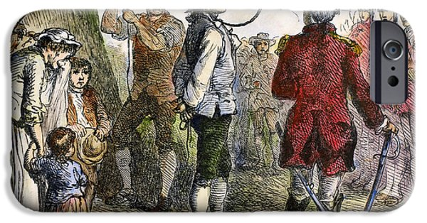 American Revolution iPhone Cases - Nathan Hale (1755-1776) iPhone Case by Granger
