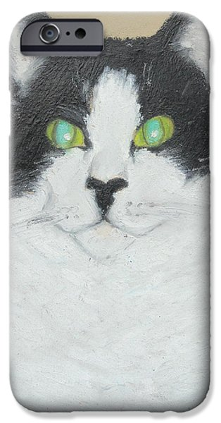Gray Hair iPhone Cases - Nellie At Attention iPhone Case by Jeanne Fischer