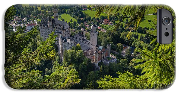 Field. Cloud iPhone Cases - Neuschwanstein Castle - Bavaria - Germany iPhone Case by Gary Whitton