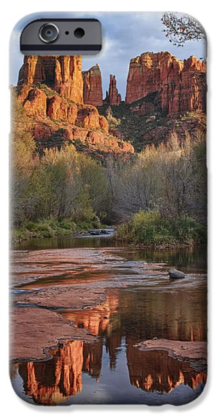 Cathedral Rock iPhone Cases - Classic Sedona iPhone Case by Elaine Belvin