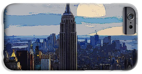 Brooklyn Bridge Mixed Media iPhone Cases - New York City iPhone Case by Celestial Images