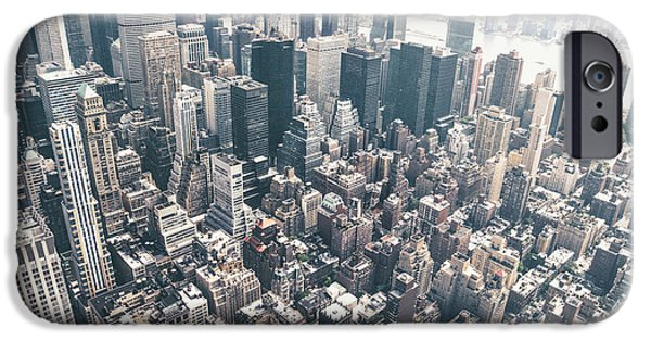 Rooftop iPhone Cases - New York City from Above iPhone Case by Vivienne Gucwa