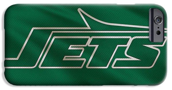 New York Jets iPhone Cases - New York Jets Uniform iPhone Case by Joe Hamilton