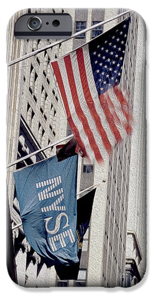Buildings Mixed Media iPhone Cases - New York Stock Exchange iPhone Case by Jon Neidert