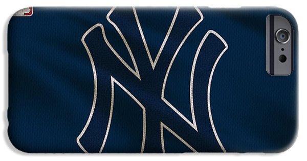 Derek iPhone Cases - New York Yankees Uniform iPhone Case by Joe Hamilton
