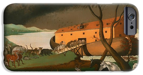 Noahs Ark Paintings iPhone Cases - Noahs Ark iPhone Case by Edward Hicks
