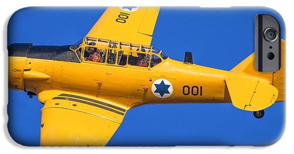 North American Aviation iPhone Cases - North American Aviation T-6 Texan iPhone Case by Nir Ben-Yosef