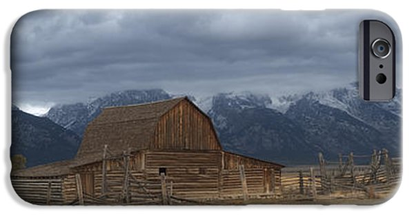 Old Barn iPhone Cases - North Moulton Barn Grand Tetons iPhone Case by Gary Langley