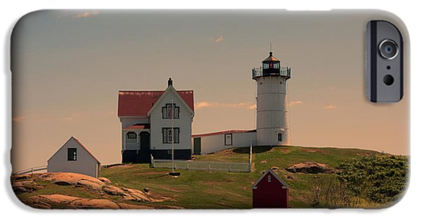 Cape Neddick Lighthouse iPhone Cases - Nubble Light iPhone Case by K Hines