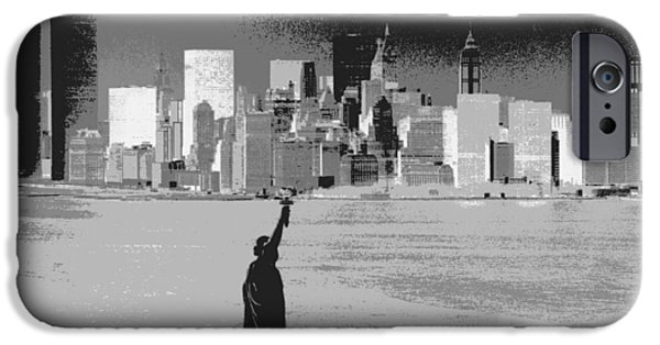 Twin Towers Nyc iPhone Cases - NYC Harbor iPhone Case by Hank  Clark