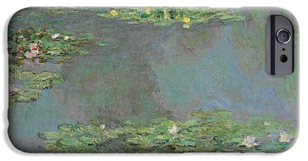 Plant iPhone Cases - Nympheas iPhone Case by Claude Monet