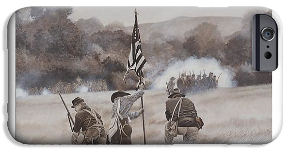 Infantryman Paintings iPhone Cases - Ol Glory at Chickamauga iPhone Case by Alton  w Williams