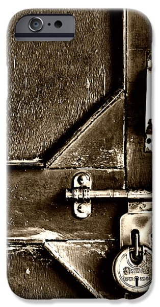 Chip iPhone Cases - Old Locked Door iPhone Case by Mountain Dreams