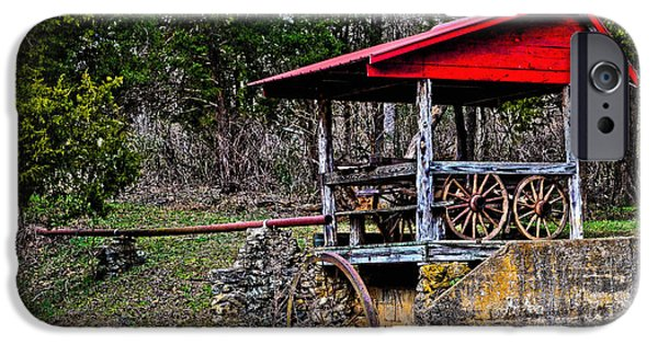 Grist Mill iPhone Cases - Old Mill of Guilford Pumphouse iPhone Case by Sandi OReilly