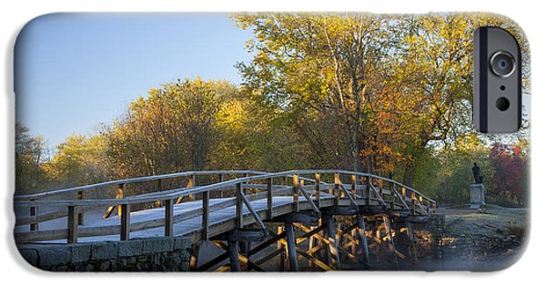 Concord iPhone Cases - Old North Bridge iPhone Case by Brian Jannsen