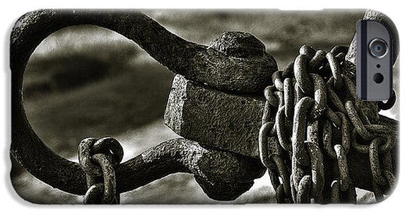 Strength Photographs iPhone Cases - Old Rusty Anchor iPhone Case by Erik Brede