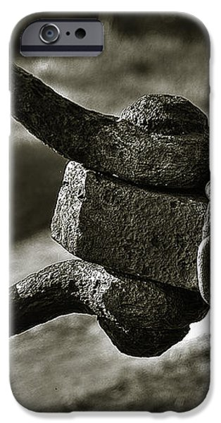 Old Rusty Anchor iPhone Case by Erik Brede