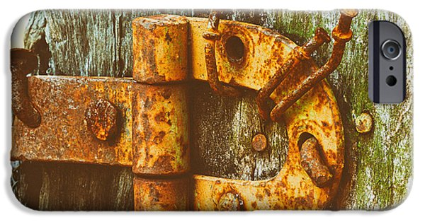 Makeshift iPhone Cases - Old Rusty Gate Hinge iPhone Case by Mountain Dreams
