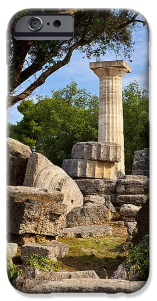 Zeus iPhone Cases - Olympia Ruins iPhone Case by Brian Jannsen