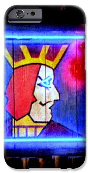 Ludzska iPhone Cases - One Eyed Jacks iPhone Case by Luis Ludzska
