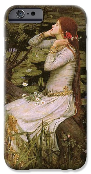 Pres iPhone Cases - Ophelia iPhone Case by John William Waterhouse