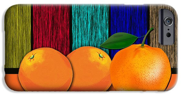 Branches iPhone Cases - Oranges iPhone Case by Marvin Blaine