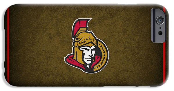 Ottawa iPhone Cases - Ottawa Senators iPhone Case by Joe Hamilton