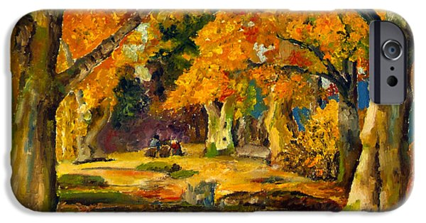 Figure iPhone Cases - Our Place in the Woods iPhone Case by Mary Ellen Anderson