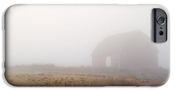 Barns iPhone Cases - Out of the Fog iPhone Case by Mike  Dawson