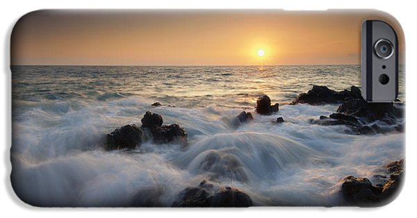 Ebb iPhone Cases - Over the Rocks iPhone Case by Mike  Dawson