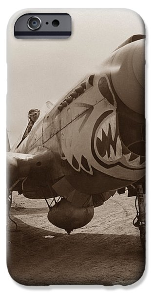 Warhawk iPhone Cases - P-40 Warhawk iPhone Case by War Is Hell Store