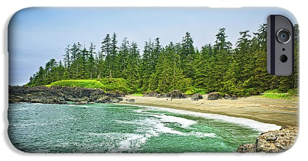 Pristine iPhone Cases - Pacific ocean coast on Vancouver Island iPhone Case by Elena Elisseeva