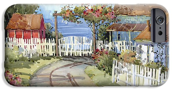 Shed iPhone Cases - Pacific Out Back iPhone Case by Joyce Hicks
