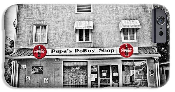 South Louisiana Photographs iPhone Cases - Papas PoBoy Shop iPhone Case by Scott Pellegrin