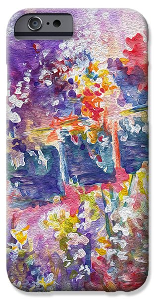 French Open iPhone Cases - Parisian Floral iPhone Case by Kathy Bassett