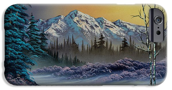 Recently Sold -  - Bob Ross Paintings iPhone Cases - Frosty Enchantment iPhone Case by C Steele