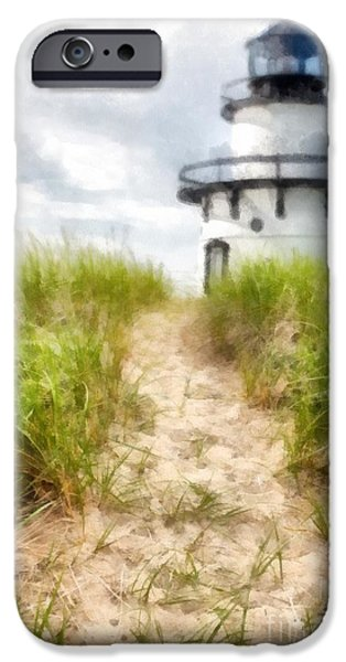 Lighthouse iPhone Cases - Path to the Beach iPhone Case by Edward Fielding