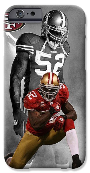 PATRICK WILLIS 49ERS iPhone Case by Joe Hamilton
