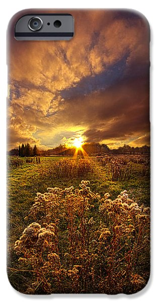Outdoors iPhone Cases - Peace Of Mind iPhone Case by Phil Koch
