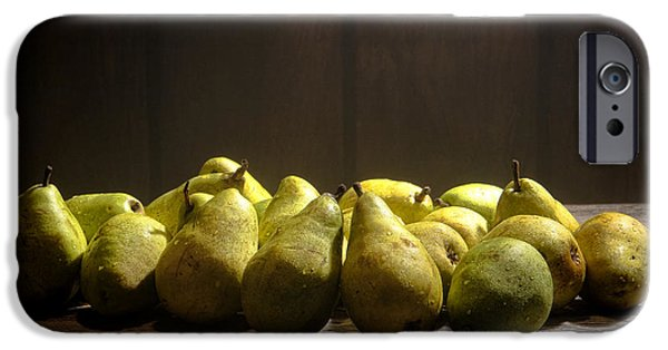 Farm Stand iPhone Cases - Pears iPhone Case by Olivier Le Queinec