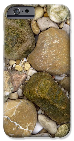 Pebbles iPhone Cases - Pebble Photography iPhone Case by Rachel Stribbling