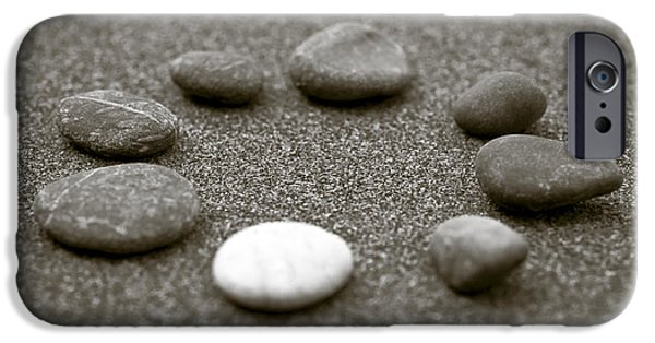 Bokeh iPhone Cases - Pebbles iPhone Case by Frank Tschakert