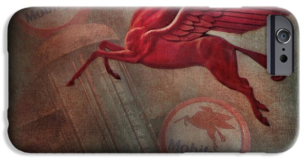 Sign iPhone Cases - Pegasus iPhone Case by David and Carol Kelly