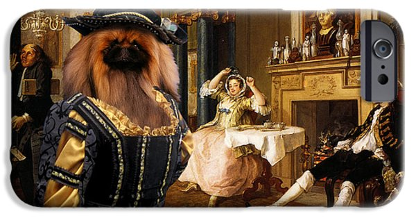 Pekingese iPhone Cases - Pekingese Art Canvas Print iPhone Case by Sandra Sij