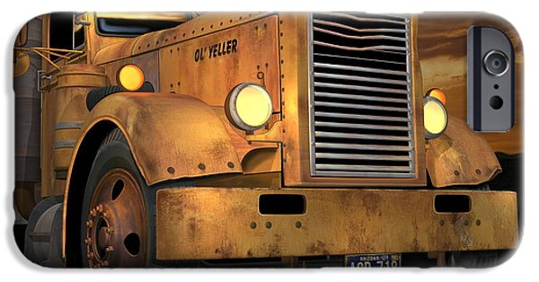 Old Truck iPhone Cases - Peterbilt Ol Yeller iPhone Case by Stuart Swartz