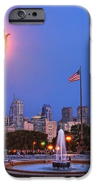 Philadelphia at Dusk iPhone Case by Olivier Le Queinec